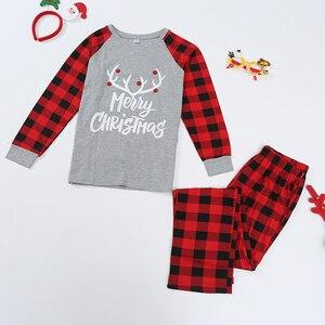 Image 3 - Conjunto de pijamas familiares de Navidad, ropa de Navidad, traje para padres e hijos, ropa de dormir de casa, trajes familiares a juego para bebé, Chico, papá, mamá
