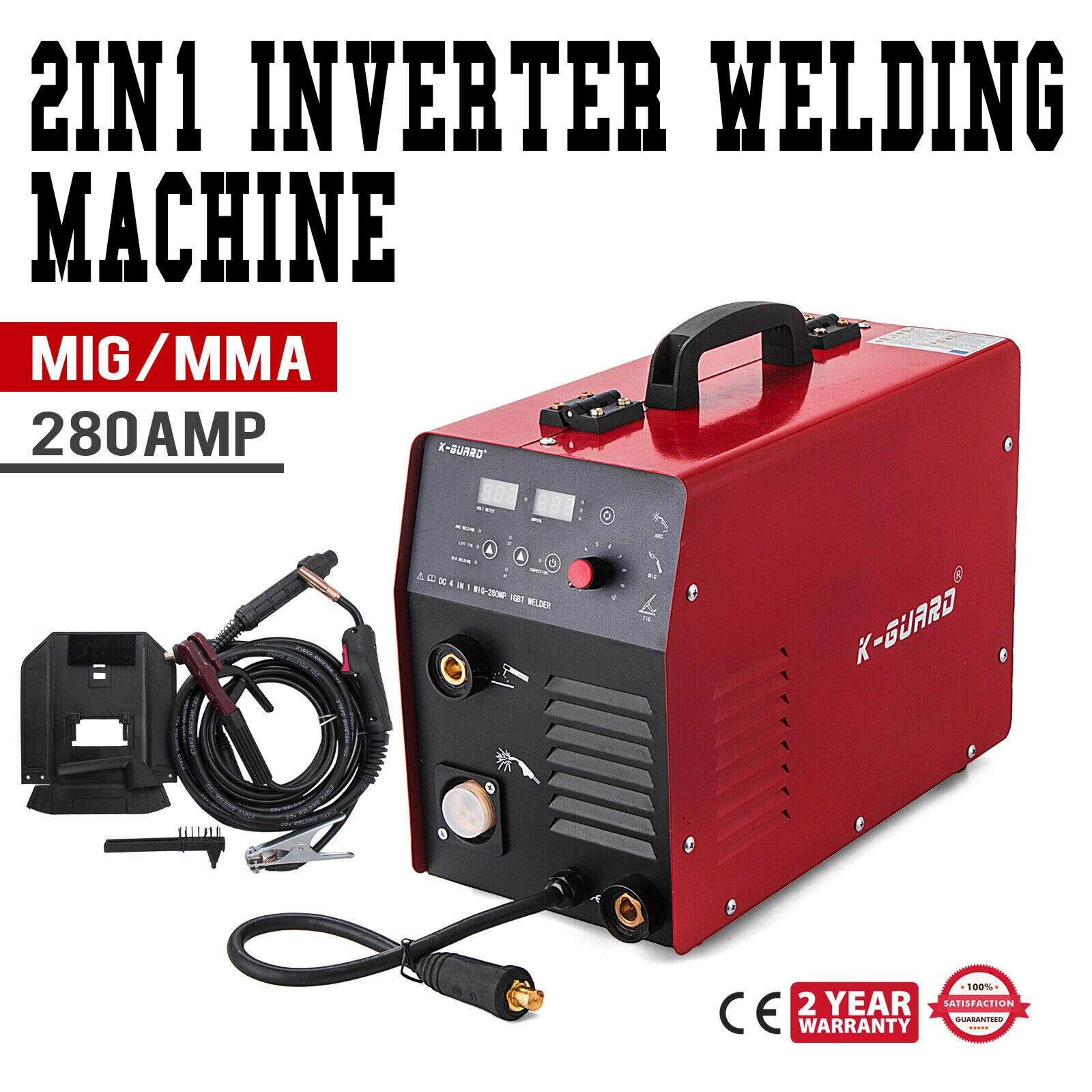 MIG 280A IGBT Inverter Welder MIG&MMA 2 In 1 Portable Welding Machine MIG