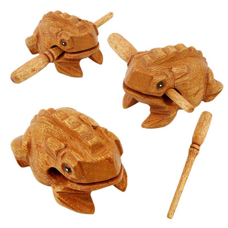 Çocuk oyuncak müzik sıkıştırmasını oyuncaklar para şanslı kurbağa geleneksel ahşap müzik aleti perküsyon törpü Brinquedos hediye