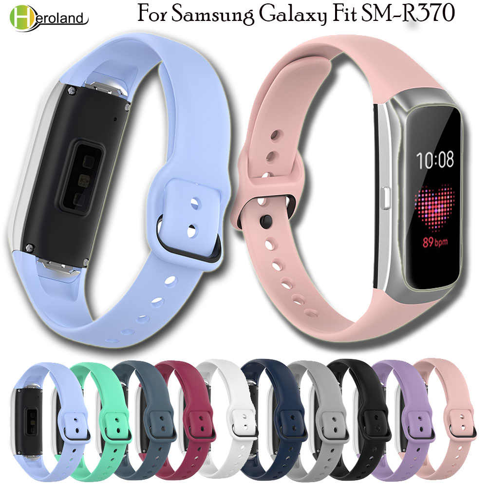 In silicone di Ricambio Watch Band Strap Da Polso Per Samsung Galaxy Fit SM-R370 Intelligente WristBand watchStrapHigh Qualità di sport Del Braccialetto