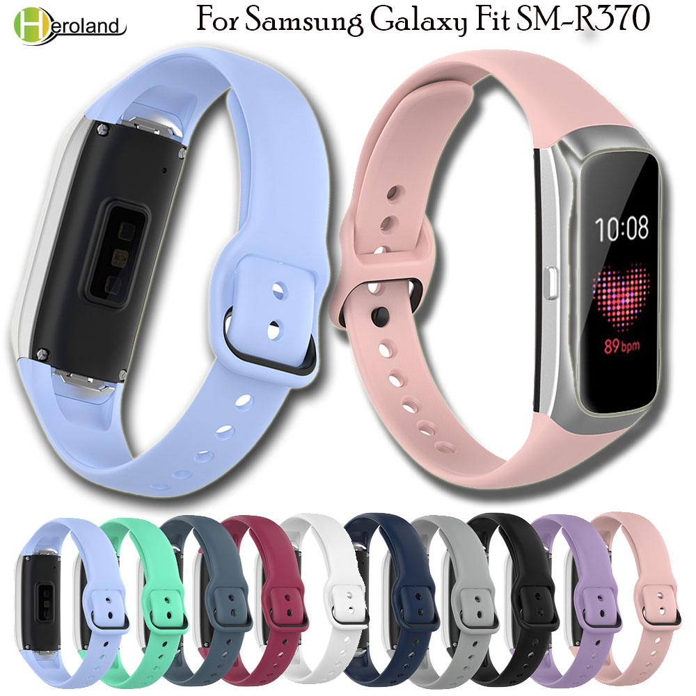 Silicone Replacement Watch Band Wrist Strap For Samsung Galaxy Fit SM-R370 Smart WristBand WatchStrapHigh Quality Sport Bracelet
