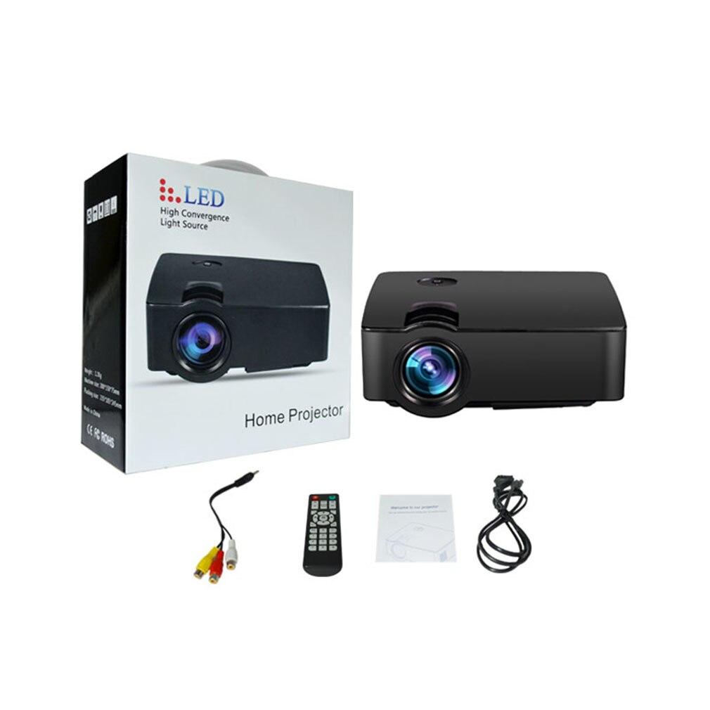 Mini Home multimédia cinéma LED HD technologie projecteur LCD technologie soutien AV VGA USB Home cinéma vidéo E08