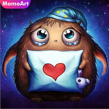 MomoArt Diamond Embroidery Cartoon Painting Full Square Drill Picture Of Rhinestone Mosaic Decoration Home