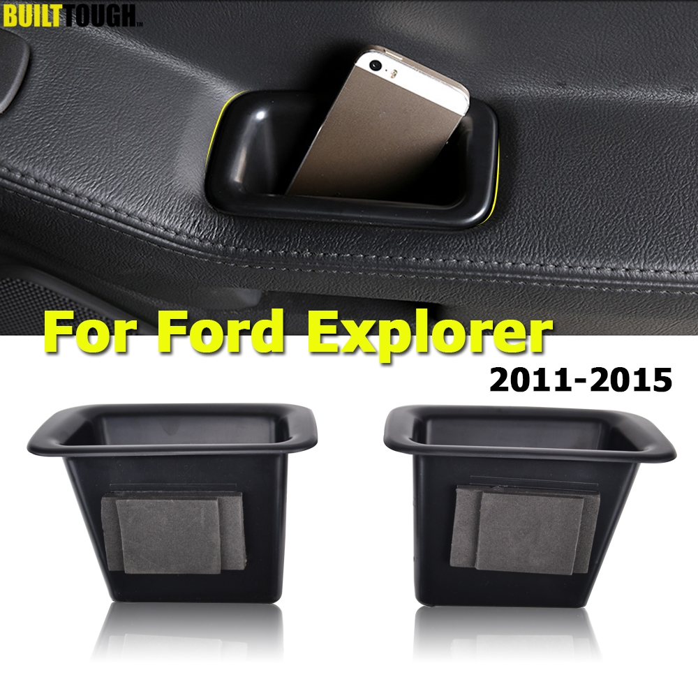Door Storage Box Tray Inner Handle For Ford Explorer 2011 2012 2013 2014 2015 Armrest Center Console Container Car Organizer