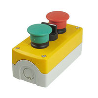 240V 3A Momentary 3 Position Selector Red Green Mushroom Push Button Station