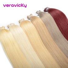 """I Tip волосы для наращивания, предварительно скрепленные человеческие волосы, машина для наращивания Remy, натуральные волосы для наращивания 1"""" до 22"""", 1 г/локон, 50 г"""