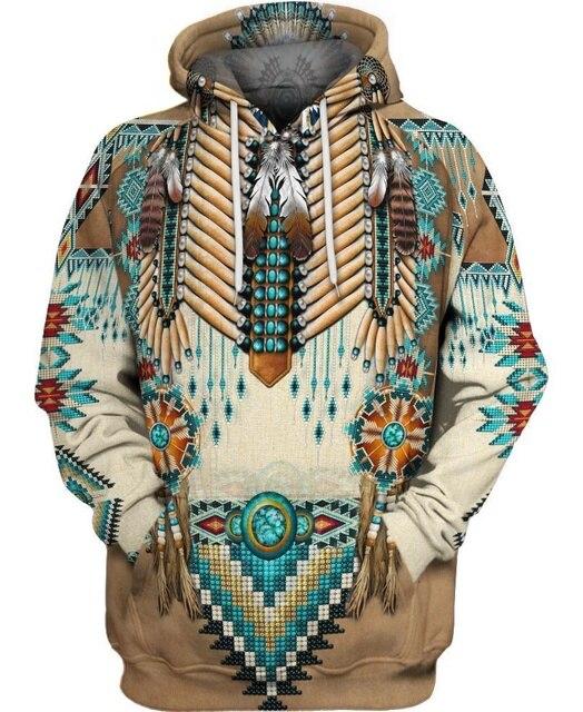 hot sale Native Indian 3D Hoodies/sweatshirts Men Women New Fashion Hooded winter Autumn Long Sleeve streetwear Pullover-10 5
