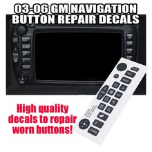 Stereo Radio Navigation Taste Reparatur Decals Aufkleber Set für 03-05 GM CADILLAC ESCALADE HUMMER NAVIGATION RADIO(China)