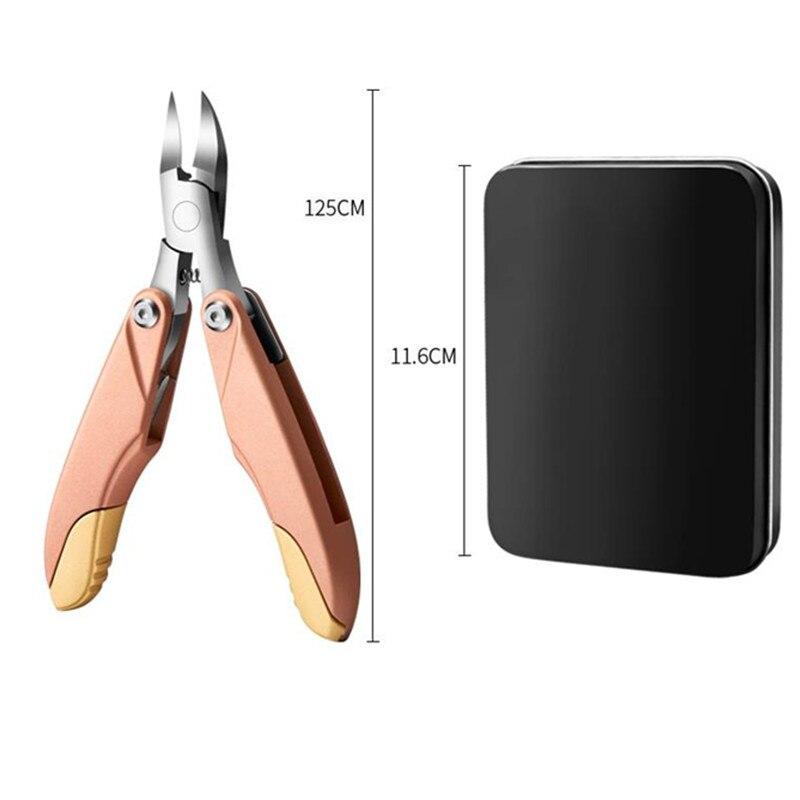 portatil dobravel toenail encravado unha arte cuticula 04