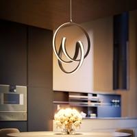 Verllas nowoczesny sufit LED + światła do salonu sypialnia Luminarias lustre de plafond aluminium Lustre Avize led lampa sufitowa w Oświetlenie sufitowe od Lampy i oświetlenie na