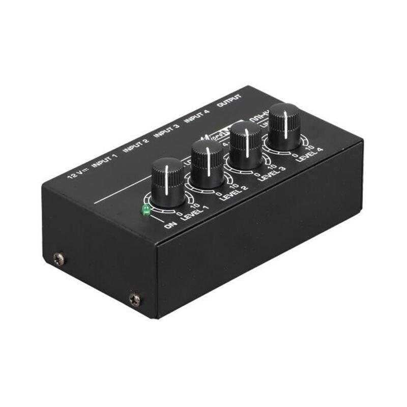 4 канальный микшерный пульт портативный мини микро низкий уровень шума караоке стерео Миксер для семьи KTV
