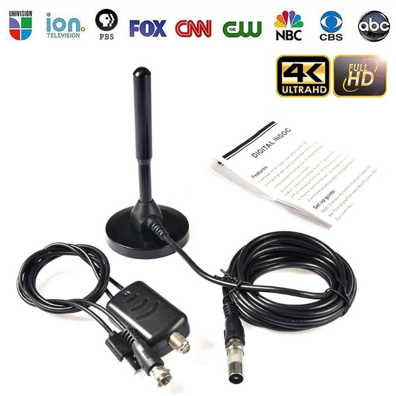 13cm Mini DVB-T/T2 Indoor Digital TV <font><b>Antenna</b></font> 30dBi Signal Receiver Amplifier Aerial 460-862MH <font><b>5V</b></font> <font><b>USB</b></font> Power image