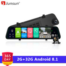 Junsun Android 8.1 2GB RAM 32GB ROM Adas 4G WIFI GPS Navi Bluetooth Mobil DVR Cermin 1080P Dash Cam Kamera Pencatat Video Recorde(China)