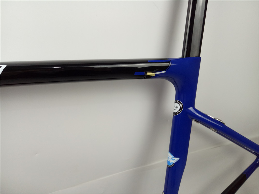 2020 New Listing S-W 1: 1 mold SL6 carbon road frame in Quickstep color rim brake or disc brake version road bike carbon frame