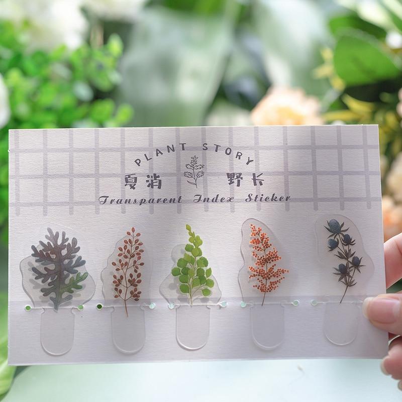Mohamm LIVE GLASS Series Kawaii Cute Sticker Custom Stickers Diary Stationery 5 Pcs PVC