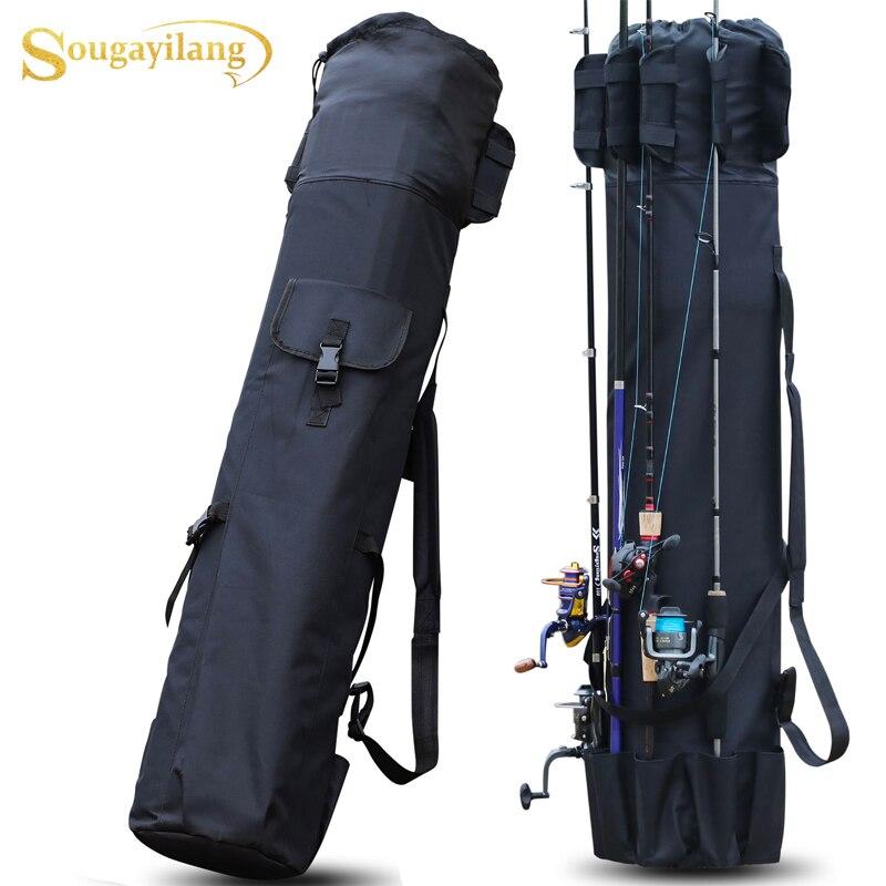 Sougayilang  Black/Green 120cm Fishing Bag  Fishing Tackle Storage Bag Portable Multifunction Nylon Fishing Bags Fishing Rod Bag