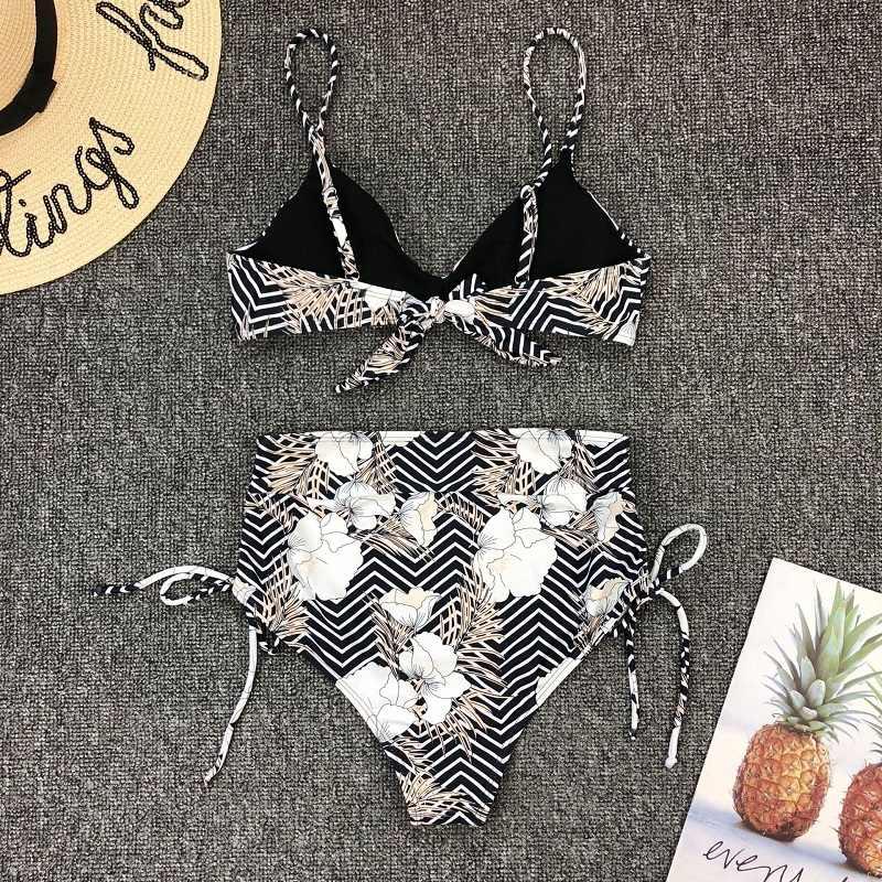 Seksowne bikini Set halter bandaż stroje kąpielowe Push-up kobiety strój kąpielowy Push-up wysokiej talii stroje kąpielowe strój kąpielowy odzież Biquini Mujer