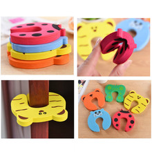 Door-Stopper Wall-Protection Children 9 Shockproof Styles Drop-Ship Savor Colorful Silicone