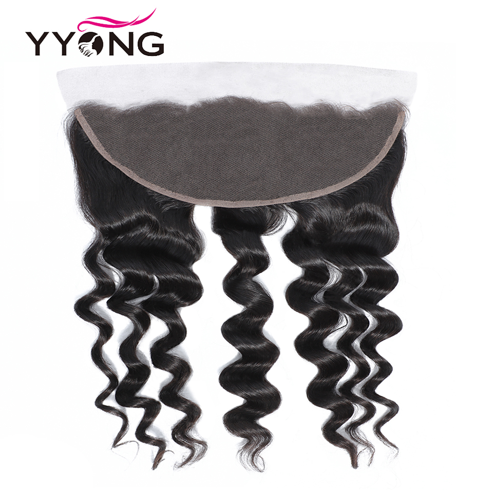 Newest 13x4 Ear To Ear Lace Frontal Closure With Bundles   Loose Deep Wave 8-30inch  Bundles With Frontal 6