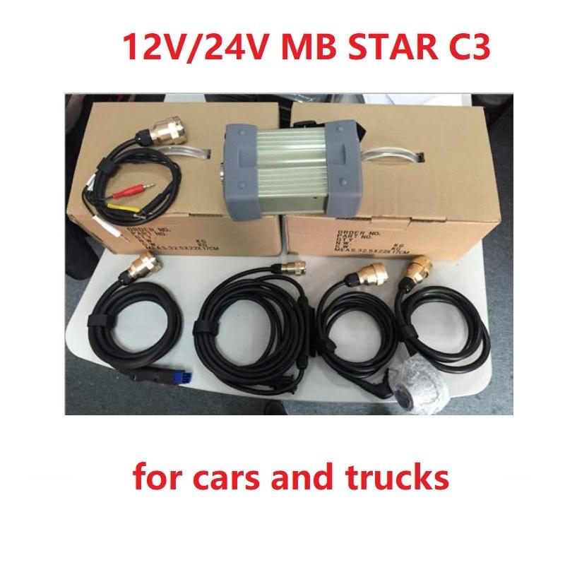 2020 OEM 12V/24V Mb Star C3 MB Diagnostic Multiplexer Tester MB Star C3 For Mercede Diagnosis Tool  For Cars And Trucks
