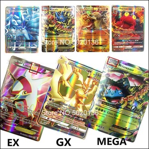 60 100 200 pcs Pokemon Cards Game Sword Shield V Vmax Tag team GX EX Mega Collection trading battle cards English version Toy