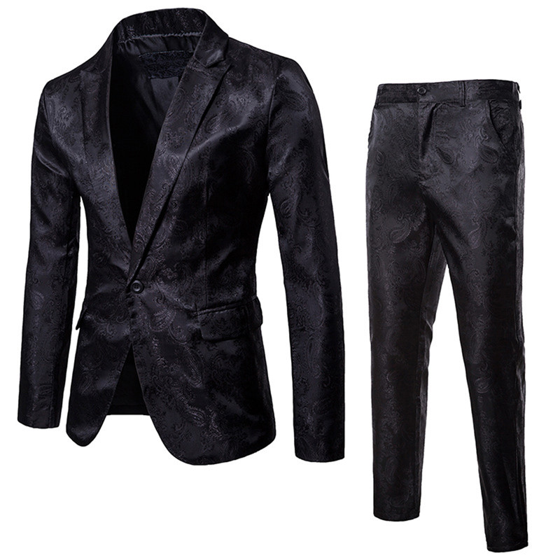 Luxury Men Wedding Suit Male Slim Fit Suits For Men Costume Business Formal Party Blue Classic Black Blazer