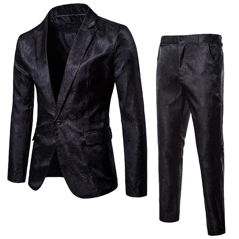 Luxury Men Wedding Suit Male Slim Fit Suits For Men Costume Business Formal Party Blue Classic Black Blazer