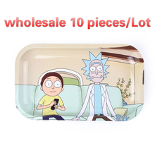 10piece Tobacco   rick and morty  tray rolling  tobacco  tool tobacco storage plate  Tobacco rolling tray  metal cigarette case improving tobacco yield and quality