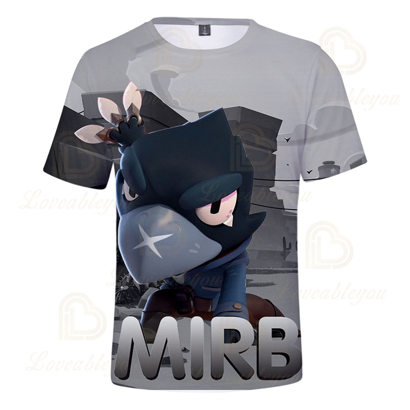 POCO Shelly 8 To 19 Years Kids T-shirt Shooter Game Leon 3D Printed Tshirt Boys Girls Gameing Cartoon T-shirt Tops Teen Clothes  - buy with discount