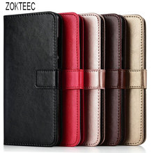 ZOKTEEC Luxury Flip business Wallet case For Xiaomi Redmi Note 4 4X 5 6 7 Pro Plus CC9E CC9 K20 GO A3 phone Cover