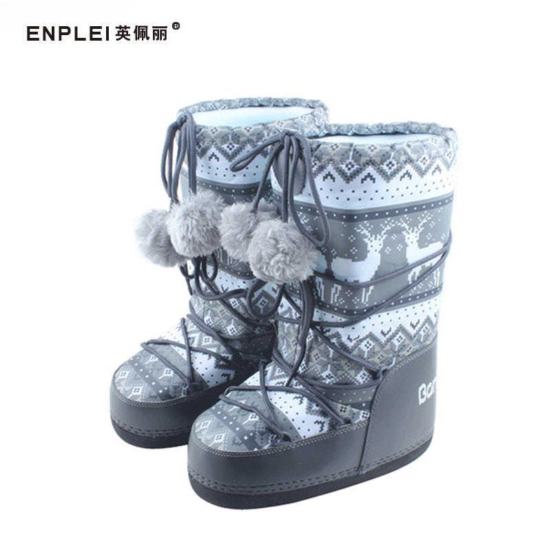 ENPLEI vrouwen snowboots Herfst Winter Mid-Kalf laarzen warme ski laarzen waterdichte laarzen 35-40