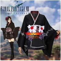 Game Final Fantasy VII Remake Tifa Cosplay Costume Adult Women Outfits Girl Japanese Kimono Sexy Mini Dress Stockings Accessory