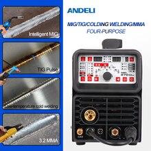 ANDELI MIG/TIG pulse/MMA/холодная сварка многофункциональный сварочный аппарат из нержавеющей стали 4 в 1 Интеллектуальный многофункциональный сварочный аппарат