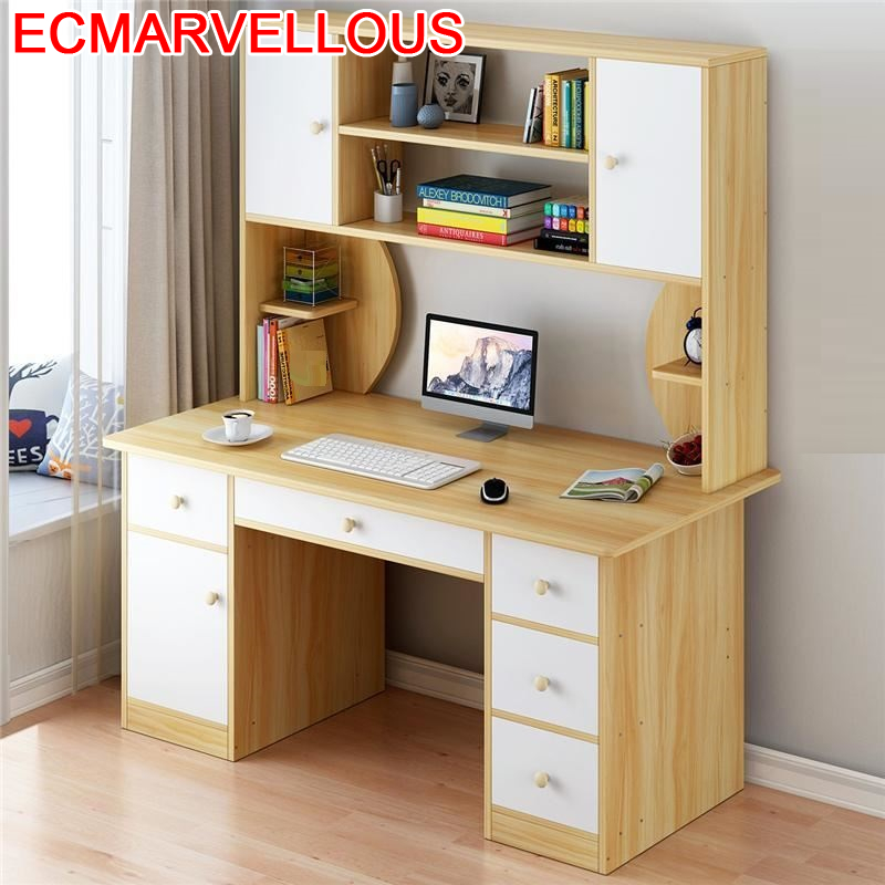 Mueble Notebook Support Ordinateur Portable Escritorio Office Bed Tray Laptop Stand Desk Mesa Bedside Tablo Table With Bookcase