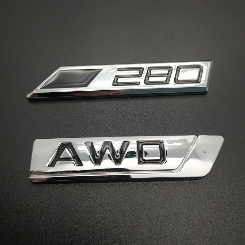 1Pcs S6 Grill Front 3D Metal Badge Decal Chrome Silver Red Emblem For AUDI A6 S6