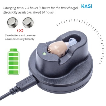 2020 best ITE Hearing Aid Rechargeable Hearing Amplifier Ear Hearing Aid for The Elderly Sound Amplifier for Hearing Loss Aids 1