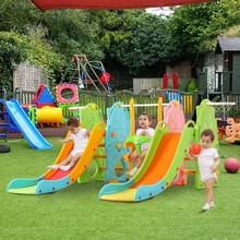 Zjeżdżalnia dla dzieci gra playen kryty dom mały huśtawka raj plac zabaw dla dzieci ogrodzenia sprzęt kombinowany zabawki rodzinne tanie tanio CN (pochodzenie) 1012 Plastikowa zjeżdżalnia