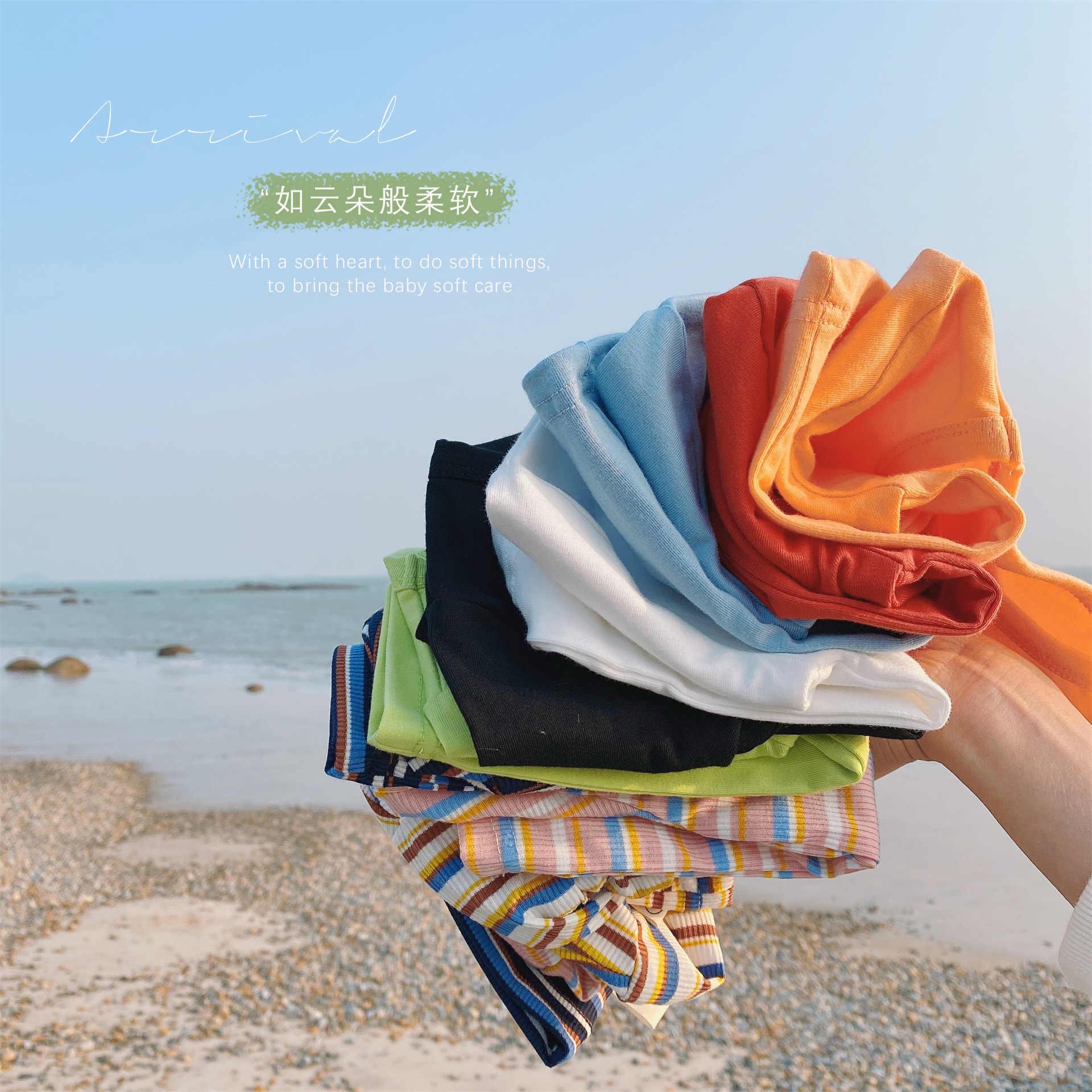 WLG wiosna jesień dzieci t-shirty dla dzieci solidny biały zielony pomarańczowy czarny t shirt chłopcy dziewczęta casual wszystkie mecze topy dla 1-6 lat