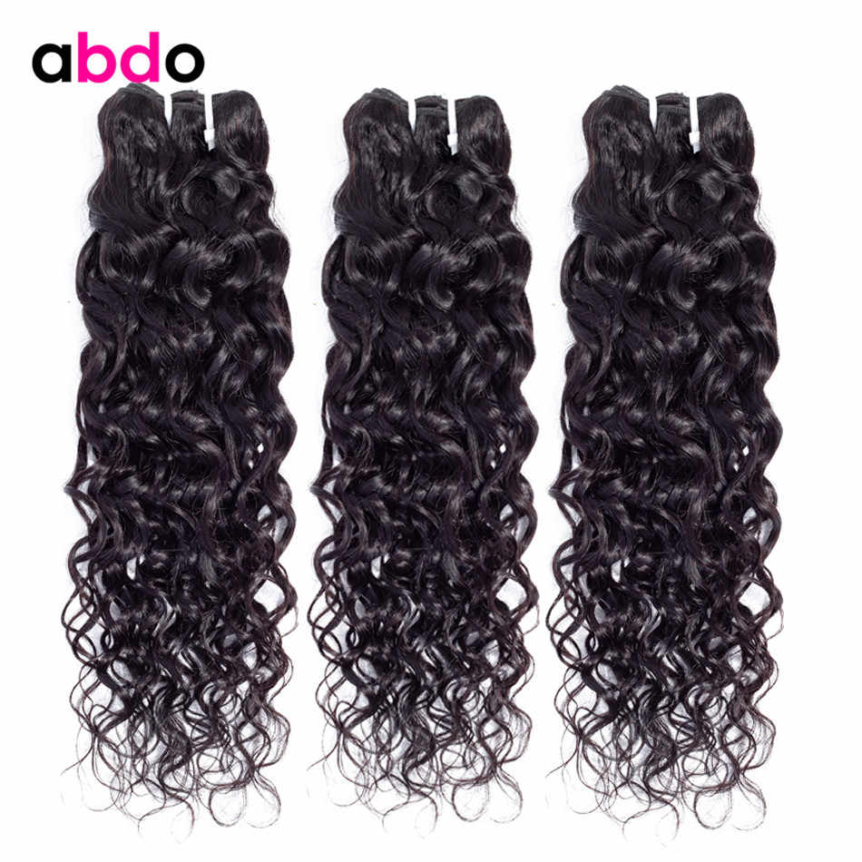 Water Wave Human Hair Bundles Brazilian Hair Weave Bundles Natural Color Remy Human Hair Extension Abdo