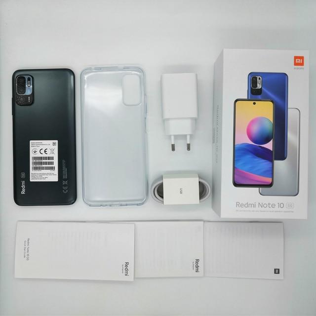 [Lançamento mundial Em estoque] Versão global Xiaomi Redmi Note 10 5G NFC Smartphone Dimensity 700 90Hz FHD+ Tela 48MP Câmera 5000mAh 6
