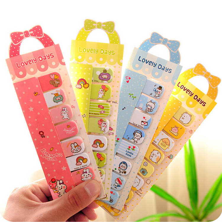 Cute Bowknot Animal Sticker Post It Bookmark Point Marker Memo Flag Sticky Notes image