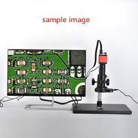 13MP 1/3 Inch CMOS HD VGA Digital Industry Video Inspection Microscope Camera Set+100X C mount Lens+56 LED Light+Table Stand