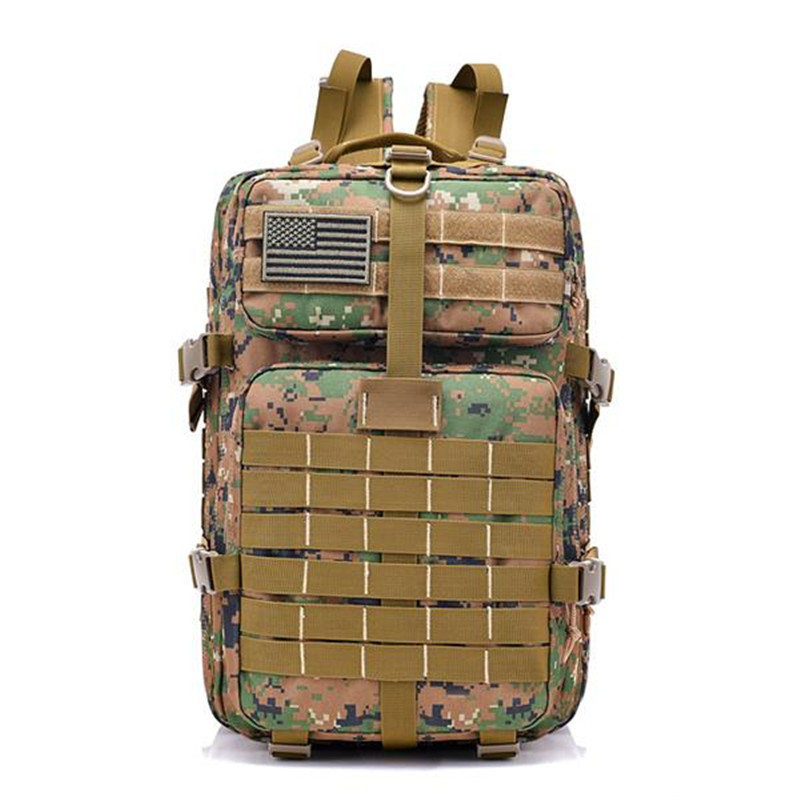 New 40L 900D Military Outdoor Tactical Backpack Mountaineering Camping Bag With Hook-and-loop Fastener