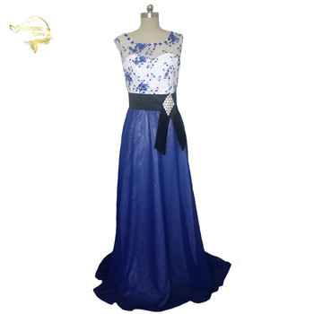 Hot Long Evening Dresses Jeanne Love HE021357 Sexy Fashion Blue Lace New Arrival Formal Evening Dresses 2019 Evening Gown