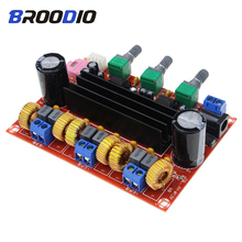 TPA3116 2.1 Digital Audio Amplifier Board TPA3116D2 50Wx2+100W 2.1 Channel Digital Subwoofer Speaker Power DC12-24V Amplificador finished new bluetooth 4 0 50wx2 digital power amplifier tpa3116 hi fi mini audio amplifier