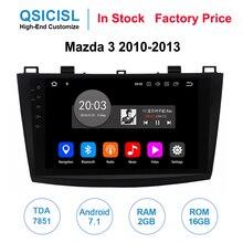 Android 7.1 car radio multimedia player for Mazda 3 2010-2013 TDA 7851 2GB+16GB car dvd gps navigation stereo Bluetooth HD 1080 все цены