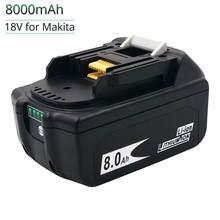 Najnowsza wersja BL1860 BL1880 18V 6000mAh 8000mAh akumulator litowo-jonowy bezprzewodowe elektronarzędzie akumulator bateria do narzędzi Makita BL1830 BL1840 BL1850