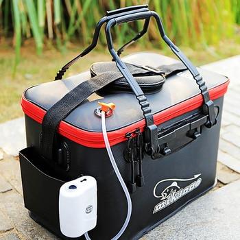 DKSAHEMTB EVA Portable Folding Thicken Live Fishing Box Tank Bucket Camping Outdoor Fishing Bag Tackle Fishbox 11/19/23/28/35L