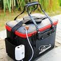 Sıcak satış 11/19/23/28/35L katlanabilir katlanır kalınlaşmak canlı olta takım kutusu EVA tankı kova kamp açık balıkçı çantası mücadele Fishbox