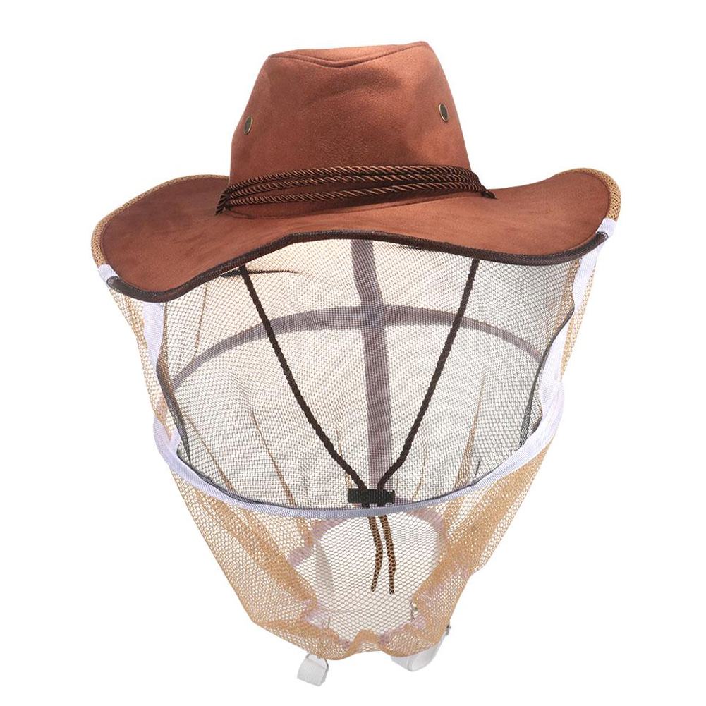 Professional Anti-bite Beekeeping Hat Mosquito Bee Insect Net Veil Hat Face Head Neck Wrap Protector Beekeeping Tools